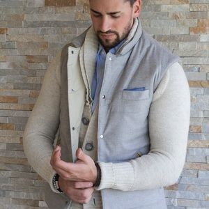 Cucinelli Like Quilted Wool Cashmere Vest